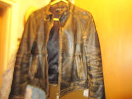 gas jeans vintage leather jacket coat rare made italy new mens other city of toronto kijiji