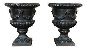 garden urns pair 19th century