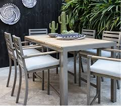 patio furniture. Beautiful Patio Brasilia Teak Dining Table With 6 Chairs Inside Patio Furniture