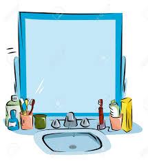 Mirror clipart bathroom sink - Pencil and in color mirror clipart ...