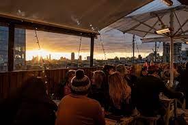 london bridge rooftop hot summer