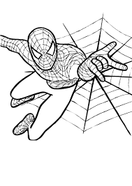 Small Picture Coloring Page Spiderman Fantastic Spiderman Coloring Pages To
