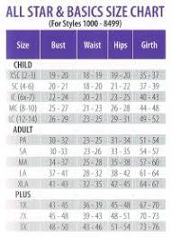 Under Armour Gymnastics Leotards Size Chart