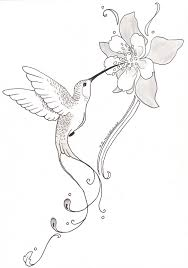 tribal hummingbird tattoo drawing. Exellent Tribal Hummingbird With Flower Tattoo  Posted By Somasekhar At 2313 For Tribal Drawing I