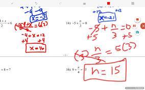 two step equations with integers answers part 2