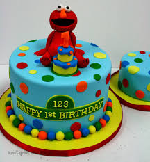 First Birthday Cakes Nyc Elmo Custom Cakes And Smash Sweet Grace