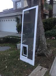 home depot front screen doorsPatio Doors Doggie Door Screen Frighteningatio With Dog Image