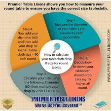 72 round burlap tablecloth arrangement ensure you have the right table linen drop by using this chart