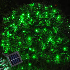 Green Solar Lights 60 Leds Green Solar Powered String Light Flash Static Lighting Modes Waterproof Outdoor Garden Patio