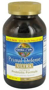 garden of life primal defense ultra ultimate probiotic formula value pack 216 vegetarian capsules at luckyvitamin com