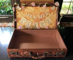 How To Decorate A Wedding Post Box CARD BOX IDEAS Postboxes Wishing Wells Vintage Suitcase 58
