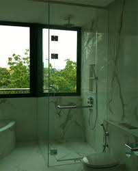 panel to ceiling shower