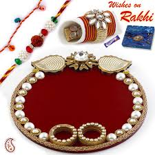 rth05sng rakhi with pooja thali