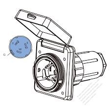 Tw marine grade twist locking inlet nema ss2 50p standard power inlet watertight cap