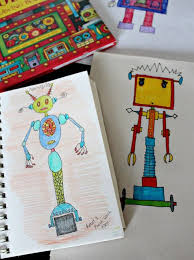 robot drawing book alex s review and remendation
