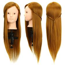 50 human hair makeup mannequin hairdressing training head salon model cl