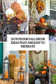 Outdoor Decorating For Fall 25 Outdoor Fall Dccor Ideas That Are Easy To Recreate Shelterness