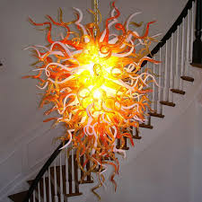 amazing blown glass chandelier the anemone 29 hand blown glass for attractive household hand blown glass chandelier decor