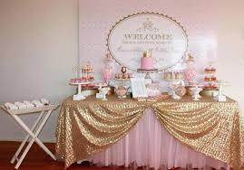 Princess Theme Baby Shower Decorations Pink Gold Royal Princess