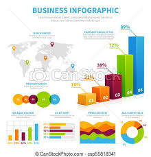 Business Infographic Vector Template With 3d Chart Graphs And Diagrams Data Visualization Financial Concept