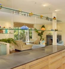 View in gallery Traditional bathroom featuring transparent glass shelves  for an overall open and light dcor View ...
