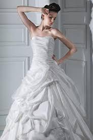 cheap a line sweetheart beige taffeta wedding dress with pick up