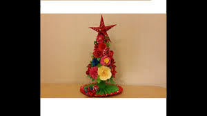 Paper Flower Christmas Tree Miniature Christmas Tree Paper Flower Christmas Tree A Doll
