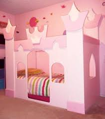 Princess Castle Bedroom The Princess Castle Bed Pink Color With Striped Bedding The