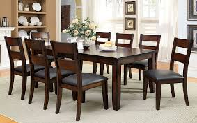transitional dining chair sch: amazoncom furniture of america dallas  piece transitional dining set dark cherry table amp chair sets