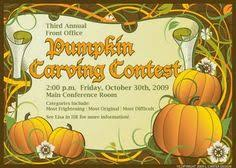 Pumpkin Carving Contest Flyers 7 Best Halloween Images Fall Season Gourd Halloween Party