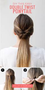 Quick Ponytail Hairstyles This Double Twist Ponytail Is The Perfect Five Minute Hairstyle