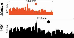 new york skyline size chart wall art decal vinyl sticker