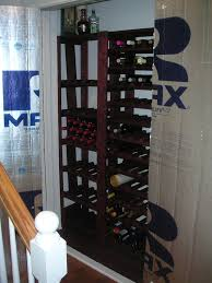 picture of how to convert a closet into a mini wine cellar