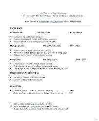 Resume Formatting Examples What Sample Resume Examples For College ...