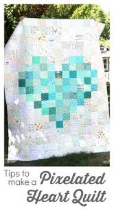 free jelly roll quilt patterns beginner | Atkinson Popsicle Sticks ... & Pixelated Heart Patchwork Quilt - tips to make one Adamdwight.com