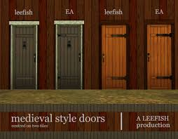 Medieval Doors mod the sims wooden door centred on two tiles 6650 by xevi.us