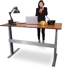 stand at desk to work actio standing adjule height up 12