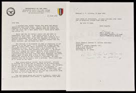 Typed Letter Signed On Department Of The Army Letterhead