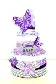 Purple Butterfly Cake Decorations Pink Purple And Teal Baby Shower