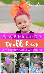 diy troll hair styles with temporary color