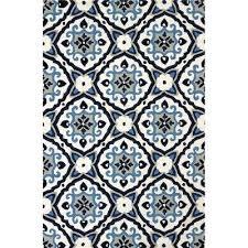 navy and white outdoor rug 5 x 8 medium mosaic medallion navy blue outdoor rug atrium