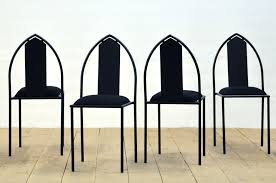 Set Of Four Postmodern Gothic Style Peter Leonard Chairs   Soho Design UK    Vinterior
