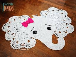 elephant rug for nursery imposing rugs and crochet pattern home ideas 5