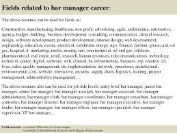 16 fields related to bar manager bar manager cover letter