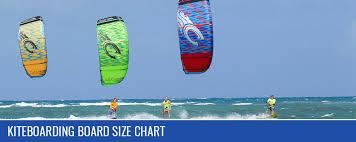 Kiteboarding Board Size Chart Kitty Hawk Kites Kiteboarding