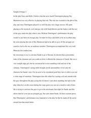 theatre appreciation sample critique appeared very well  1 pages theatre appreciation sample critique 2