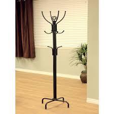 home craft metal coat rack black