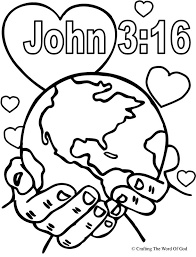 Small Picture God So Loved The World Coloring Page Coloring pages are a great