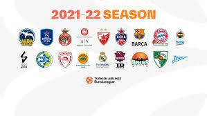 EuroLeague 2021-22 season lineup announced - Eurohoops