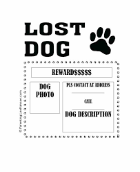 how to make lost dog flyers how lost dog template photoshop to make a missing flyer wiini co